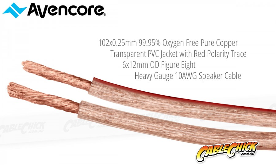 Avencore 15m Platinum Series 99.9% OFC Super Heavy Gauge 10AWG Speaker Cable (Photo )