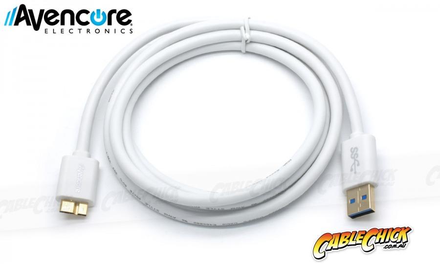 Avencore 0.5m Micro USB 3.0 Super-Speed Cable (A to Micro-B 10-Pin) (Photo )