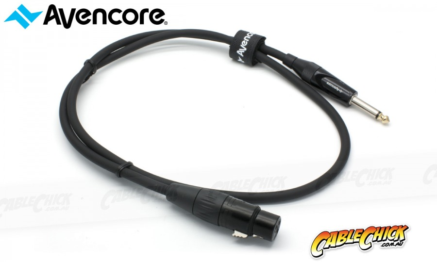 "50cm Avencore Platinum XLR to 1/4"" Cable (Female to Male) (Photo )"