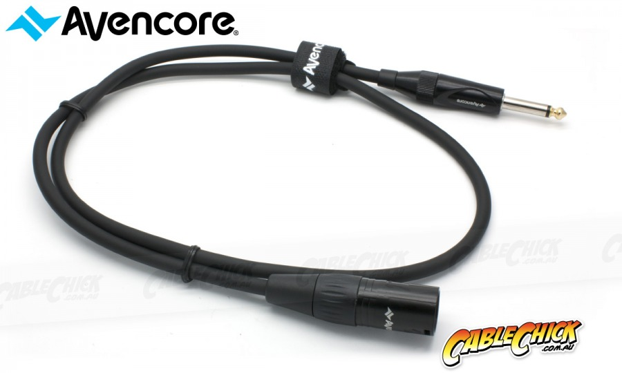 "50cm Avencore Platinum XLR to 1/4"" Cable (Male to Male) (Photo )"