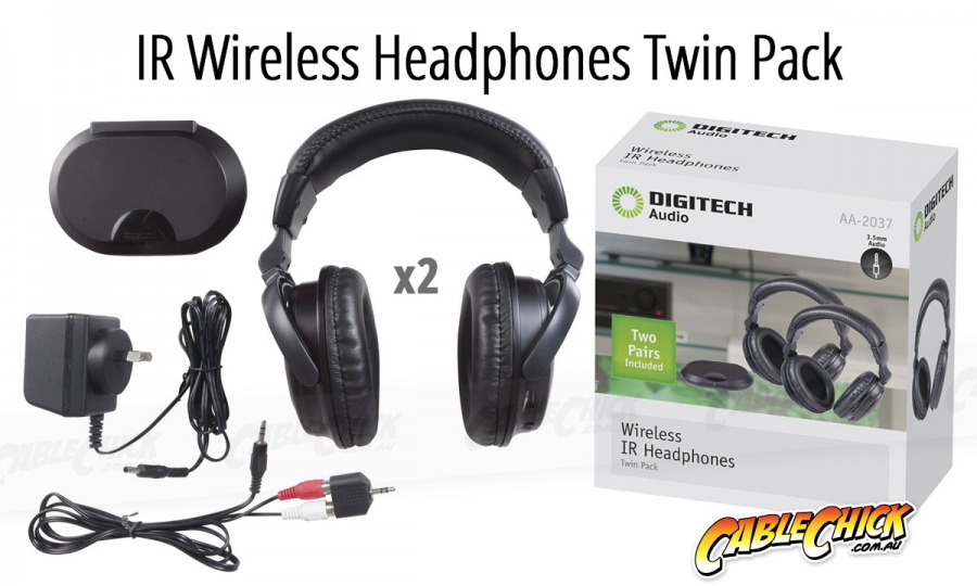IR Wireless Headphones (Twin Pack) (Photo )