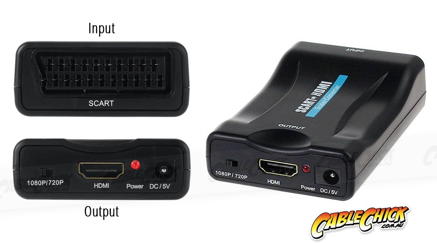 SCART to HDMI Converter (USB Powered) (Photo )