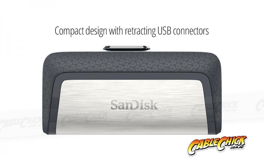 128GB SanDisk Ultra Dual Drive USB Type-C & Type-A Flash Drive (USB 3.1) (Photo )