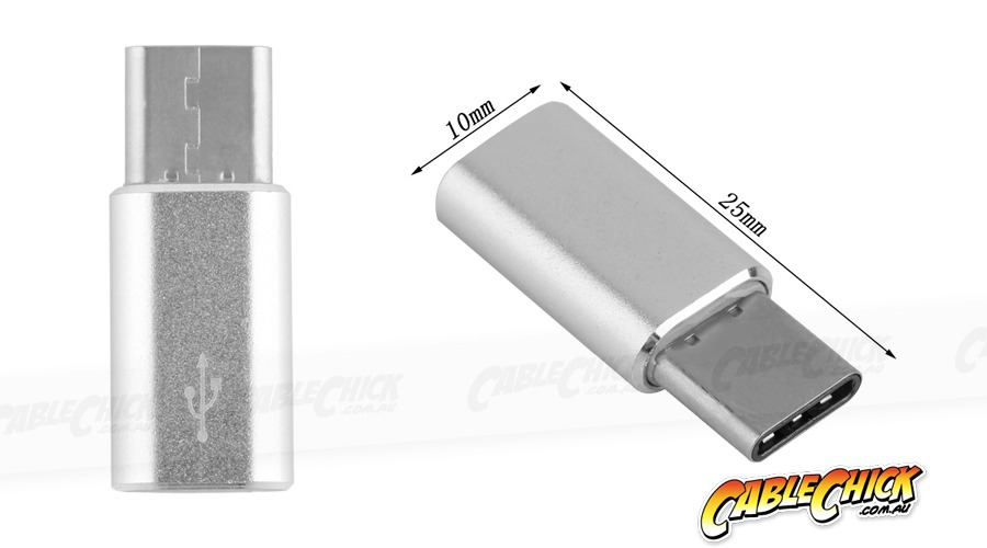 USB Type-C (Male) to Micro-USB (Female) Adapter (Photo )