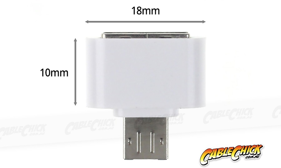 Micro-USB OTG Adapter | USB Micro-B On-The-Go (White) (Photo )