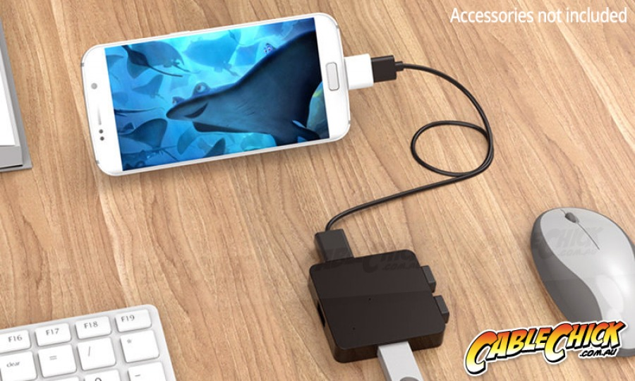 Micro-USB OTG Adapter | USB Micro-B On-The-Go (Black) (Photo )