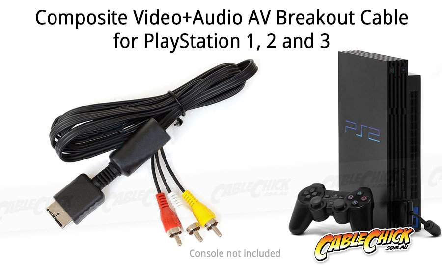 Playstation 1, 2 & 3 AV Cable (PS1, PS2 & PS3 Compatible) (Photo )