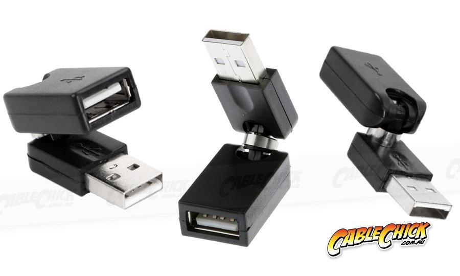 Swivel USB 2.0 Adaptor (Type-A, Male to Female) (Photo )