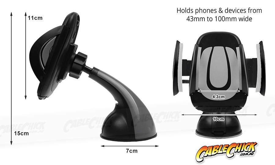 Universal Suction Car Mount for Smartphones (Photo )