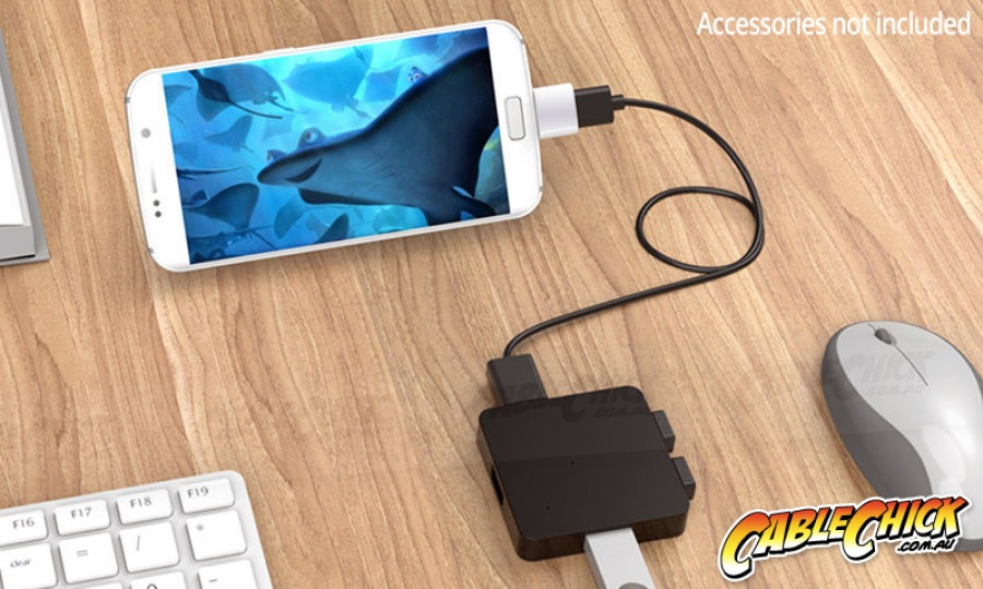 USB Type-C OTG Adapter | USB-C On-The-Go (Aluminium) (Photo )