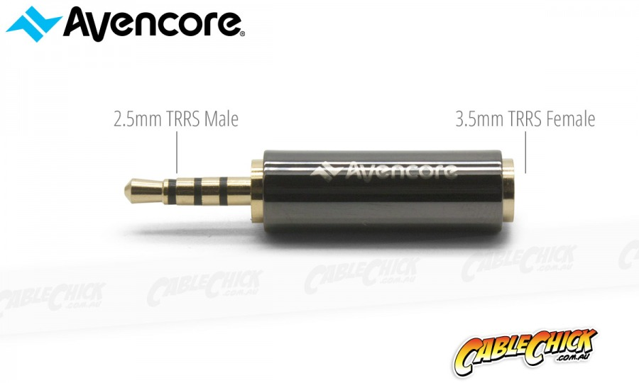 Avencore 4-Pole TRRS 3.5mm (Female) to 2.5mm (Male) Adaptor (Photo )