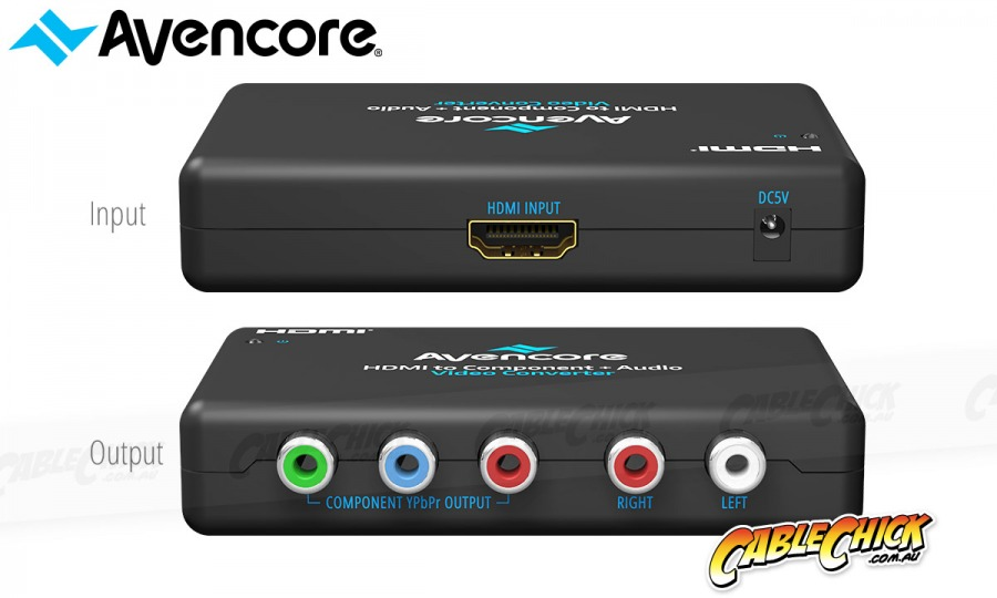 Avencore HDMI to Component Video + Audio Converter (Photo )