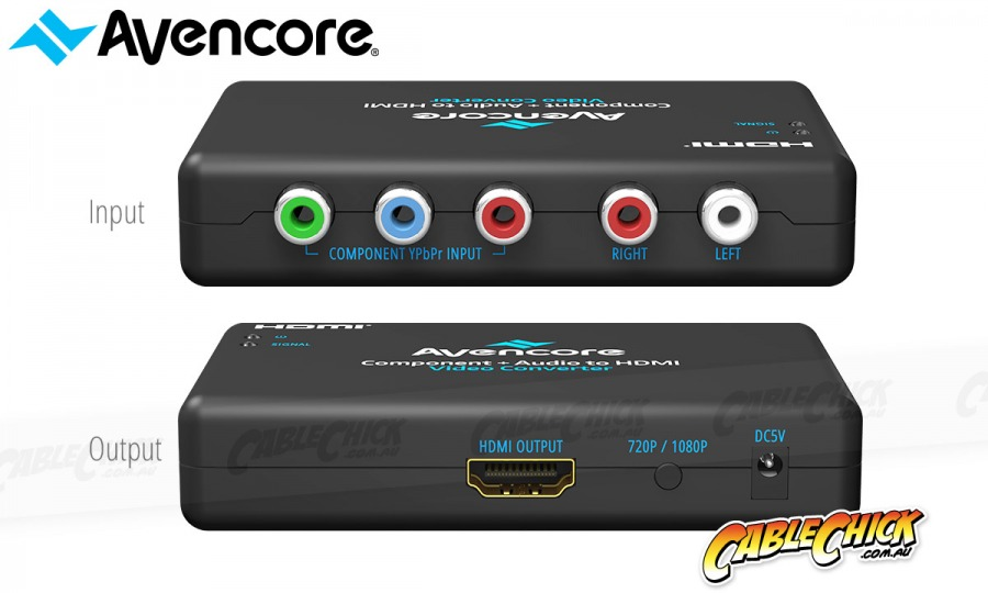 Avencore Component Video + Audio to HDMI Converter (Photo )