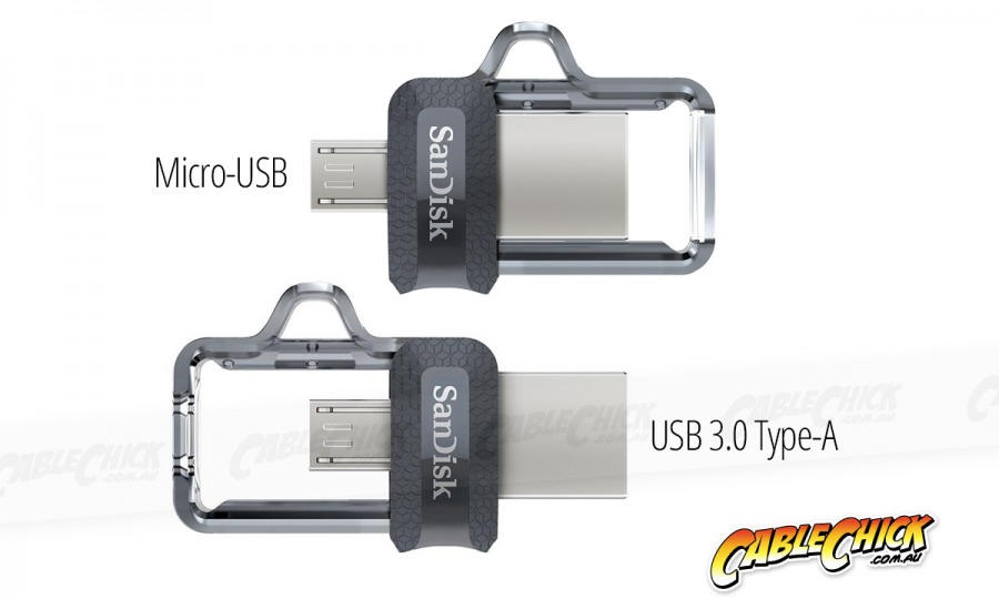 128GB SanDisk Ultra Dual USB 3.0 Drive with USB Type-A & Micro USB Interfaces (Photo )