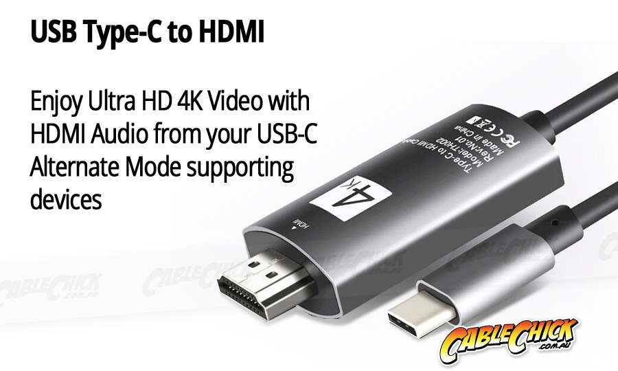 Premium USB 3.1 Type-C to HDMI Adapter (Photo )