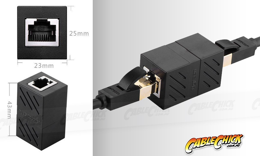 RJ45 Coupler - Female to Female CAT5/6 Coupler Adaptor (Photo )