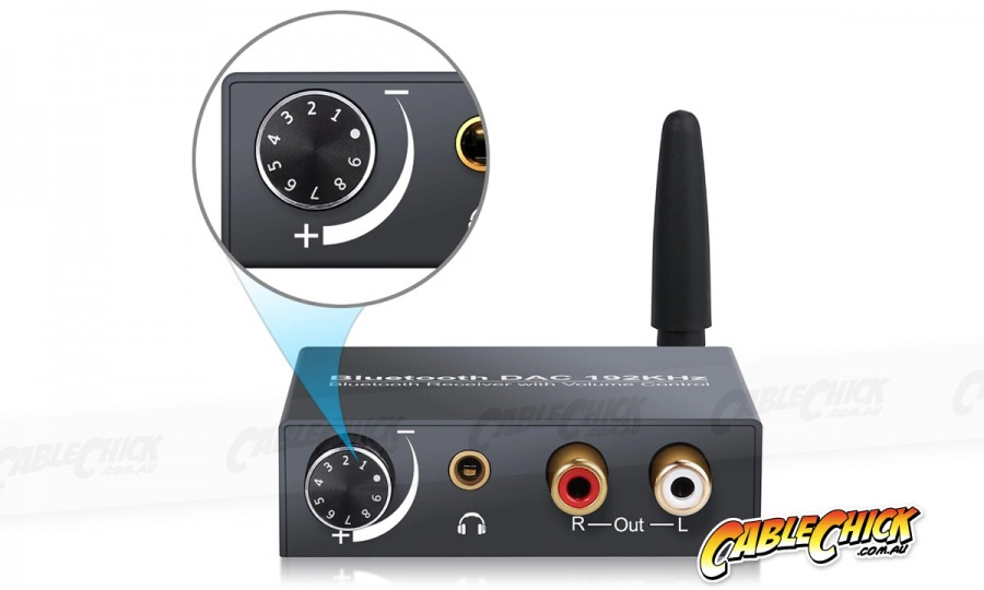Advanced Digital to Analogue Audio Converter & Bluetooth 5.0 Receiver with Volume Control (Photo )