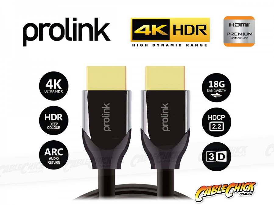Prolink 10m Premium Certified HDMI Cable (Supports Ultra HD 4K@60Hz HDMI 2.0) (Photo )