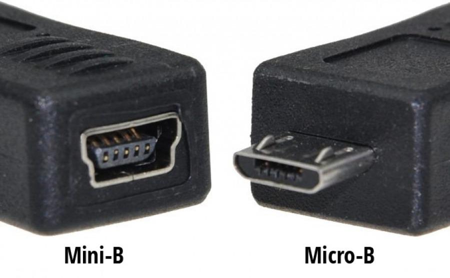 USB Adaptor Mini-B 5-Pin Female to Micro USB Male (Photo )