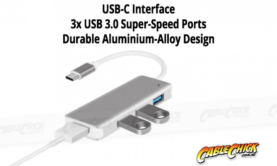 Super-Speed 4-Port USB 3.0 Hub with Type-C Interface (Photo )