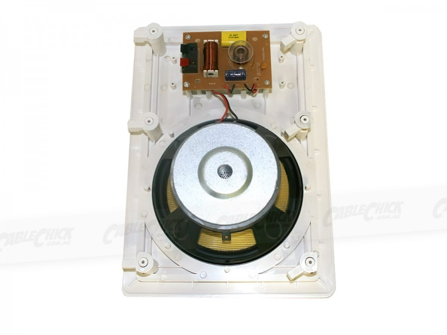 "Square 6.5"" Pair of 2-Way Wall / Ceiling Mounted Speakers - 100w Kevlar Drivers (Photo )"