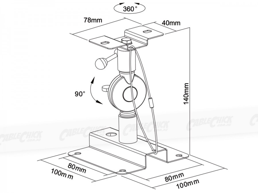 Extra Heavy Duty Speaker Wall / Ceiling Mounting Bracket - 10kg (Photo )