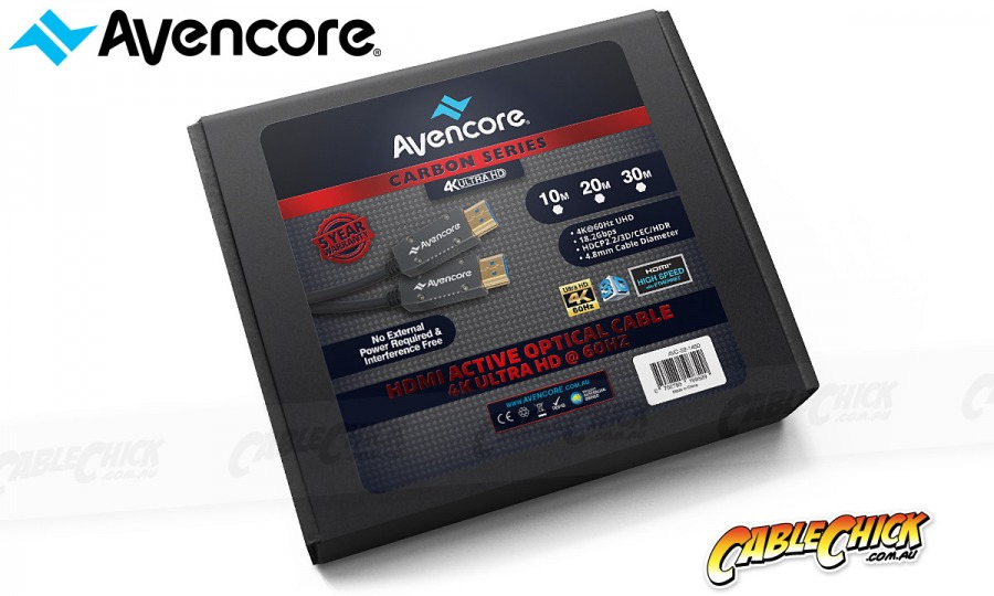 Avencore Carbon Series 100m HDMI Active Optical Cable (Supports Ultra HD 4K@60Hz) (Photo )