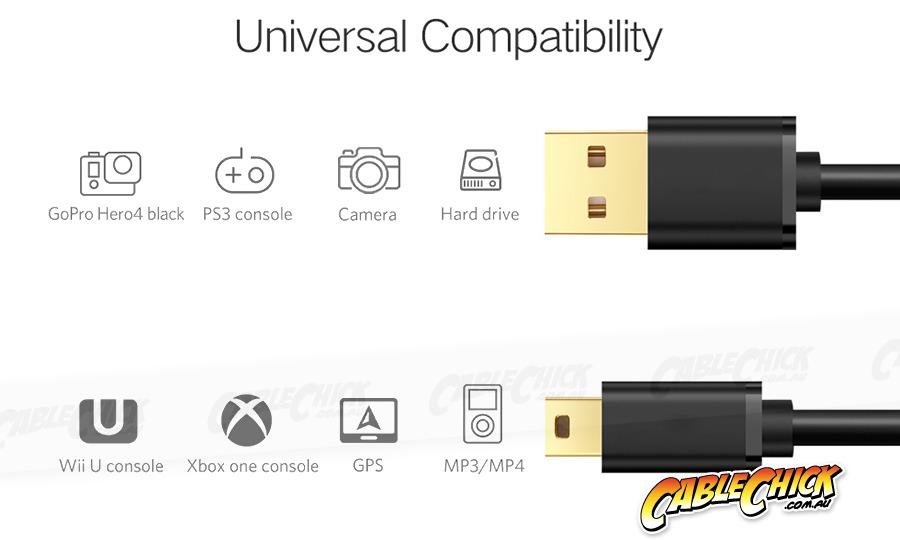 1m USB 2.0 Hi-Speed Cable (A to Mini-B 5 Pin) (Photo )