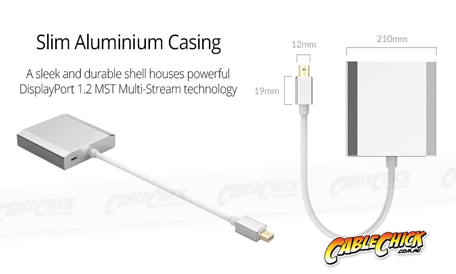 15cm Mini-DisplayPort Splitter Cable - MST Hub (Extend & Mirror) (Photo )