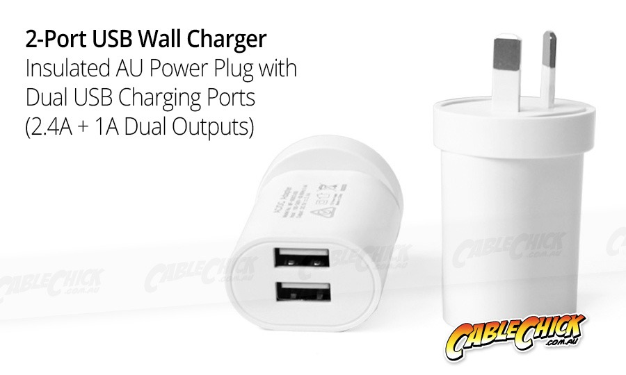 2-Port USB Wall Charger (2.1A) (Photo )
