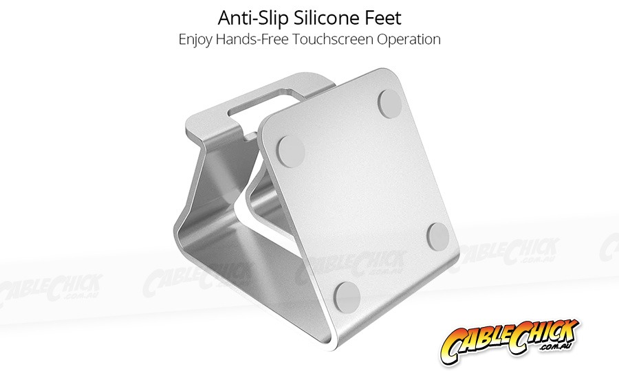 Universal Aluminium Phone Stand - Black (for Phones & Small Tablets) (Photo )