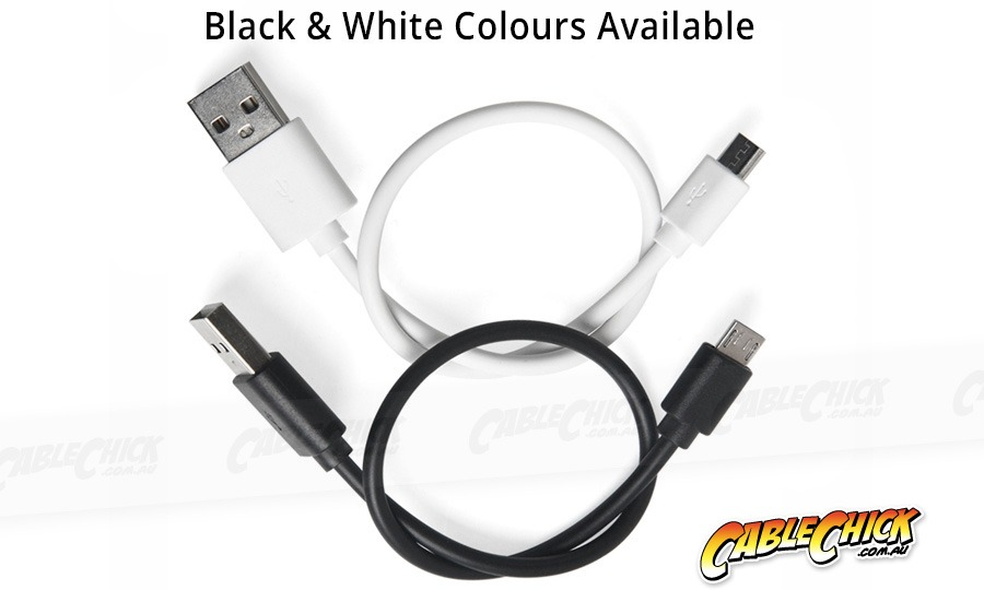 25cm Micro USB 2.0 Hi-Speed Cable (A to Micro-B 5 Pin - BLACK) (Photo )