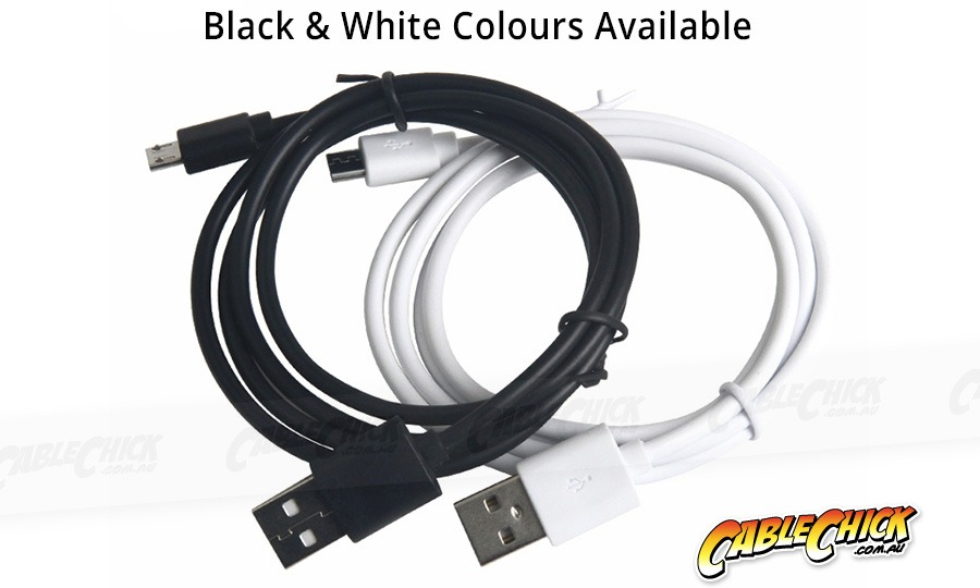 2m Micro USB 2.0 Hi-Speed Cable (A to Micro-B 5 Pin - WHITE) (Photo )