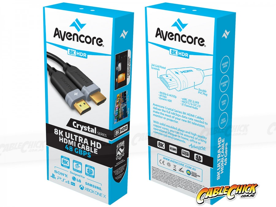 1m Avencore Crystal Series 8K Ultra Cable HD (48Gbps HDMI 2.1) (Photo )