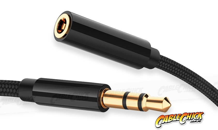 1m Slim-fit Stereo Audio 3.5mm AUX Extension Cable (Male to Female) (Photo )