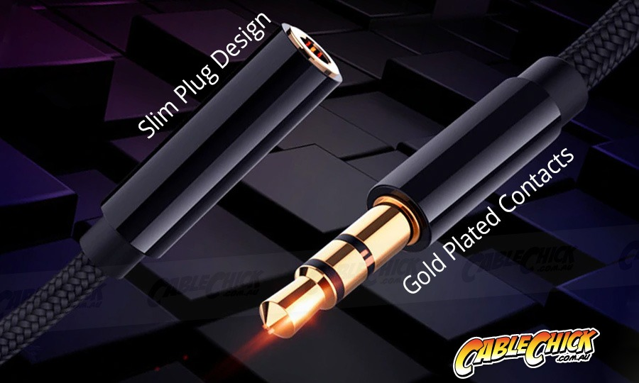1.8m Slim-fit Stereo Audio 3.5mm AUX Extension Cable (Male to Female) (Photo )