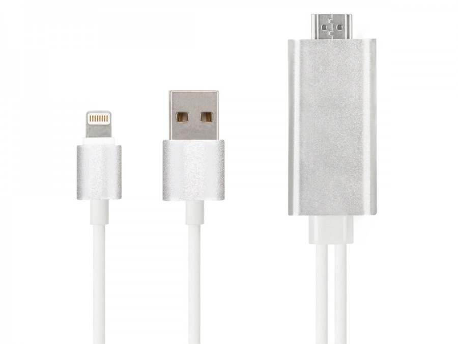 2m Apple Lightning Connector to HDMI Cable with Device Charging (Photo )
