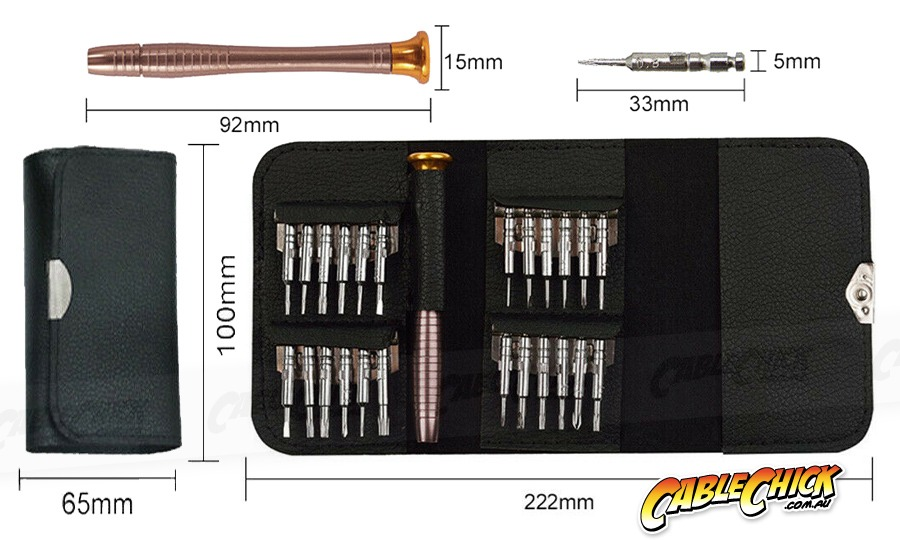 25-Piece High Precision Torx Screwdriver Tool Kit (inc Travel Case) (Photo )
