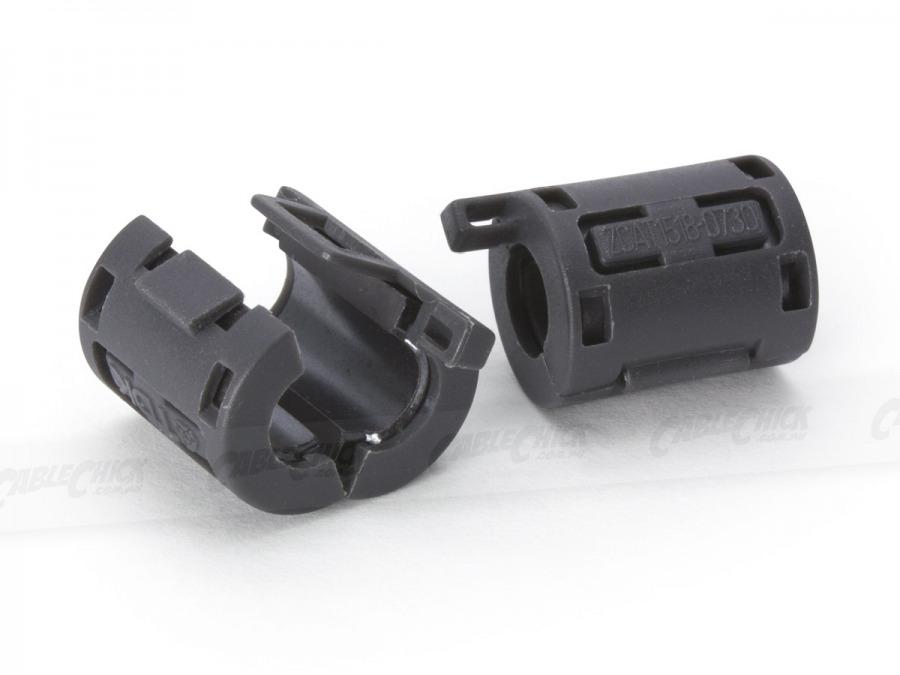 Ferrite Core RFI and EMI Noise Suppressor Cable Clip (7.3mm) (Photo )
