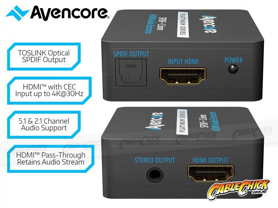 Avencore Platinum Series HDMI Audio Extractor (2.0CH / 5.1CH HDMI Audio Extractor) (Photo )