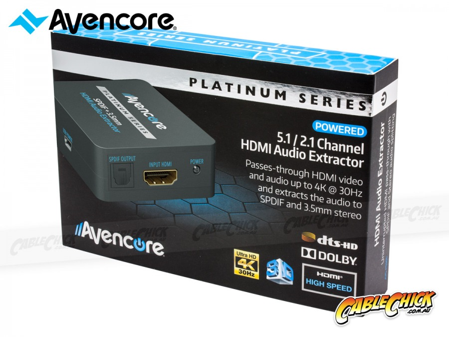 Avencore Platinum Series HDMI Audio Extractor (2.0CH / 5.1CH HDMI Audio Extractor) (Photo )