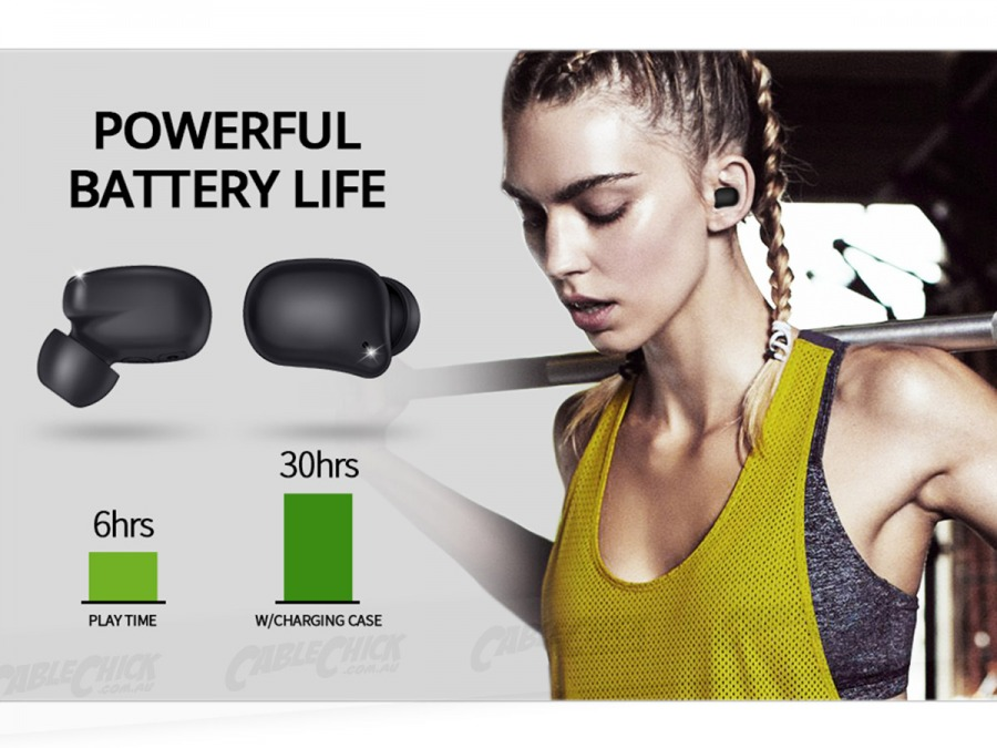 Bluedio TF2 IPX6 Water Resistant Bluetooth 5.0 Wireless Earbuds (Photo )