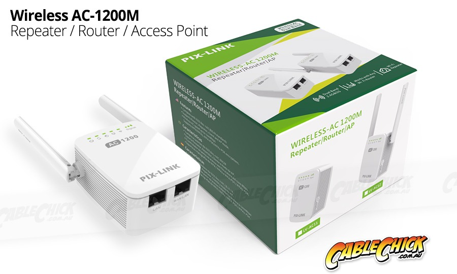 Wireless AC 1200Mbps 3-Mode WiFi Router, Access Point & Repeater (Dual-Band Wireless-AC) (Photo )