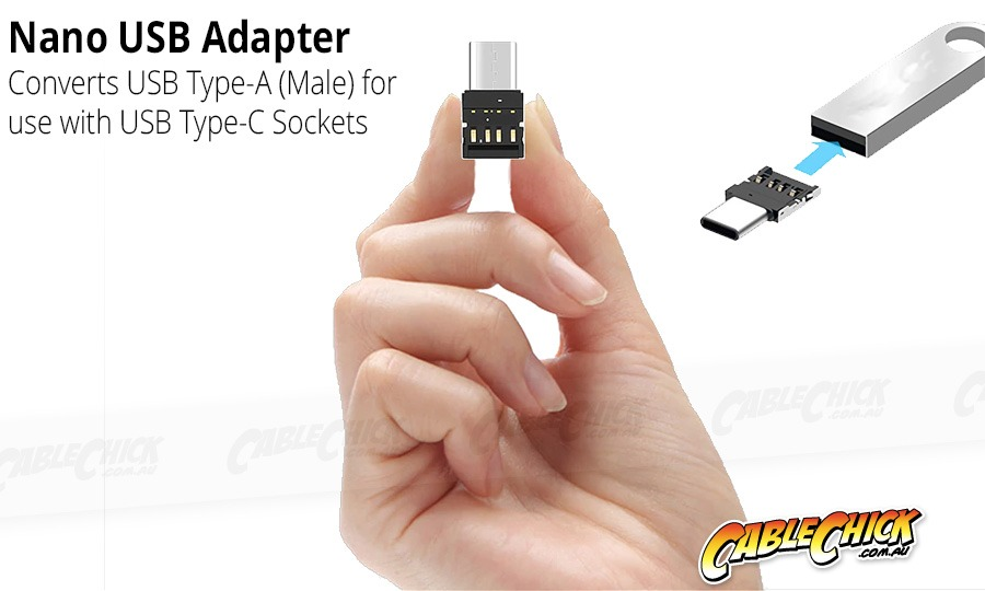 Slim USB-C OTG Adapter (USB Type A to C Changer) (Photo )