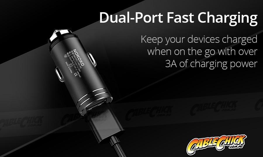 Compact Dual USB Car Charging Adapter (5V 3.1A) (Photo )