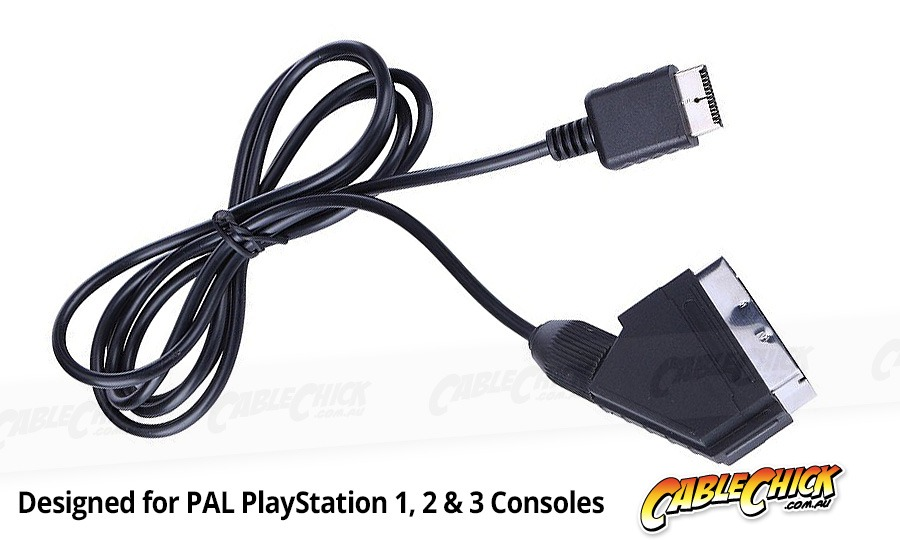 Playstation RGB SCART Cable (PS1, PS2 & PS3 Compatible) (Photo )