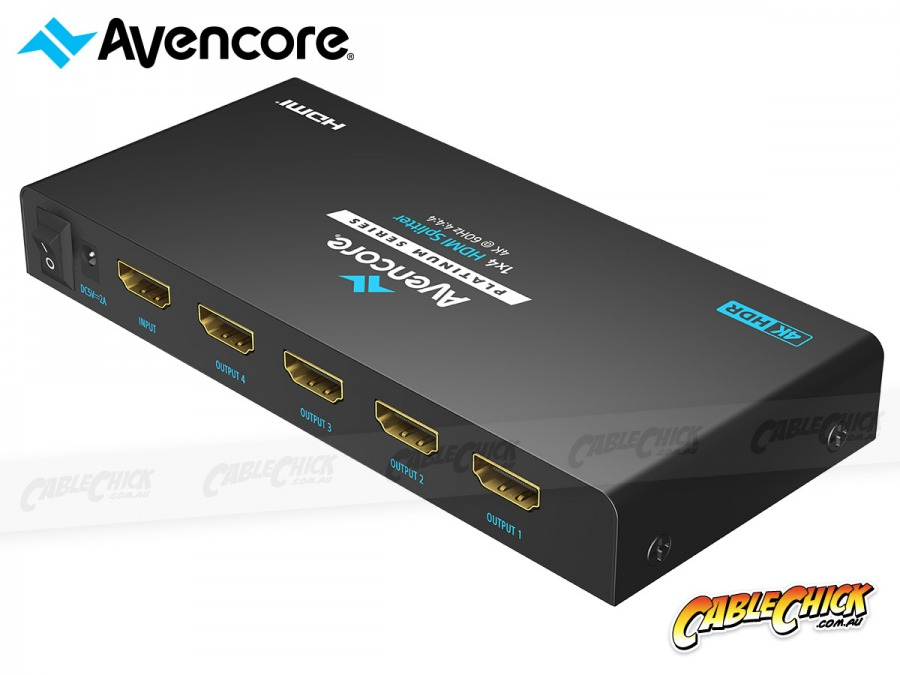 Avencore Platinum 4-Way Ultra HD 4K/60Hz HDMI Splitter (1x4 HDMI 2.0 Splitter) (Photo )