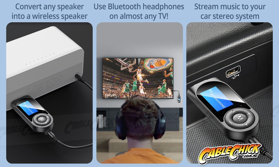 2-in-1 Bluetooth v5.0 Audio Transmitter & Receiver (Photo )