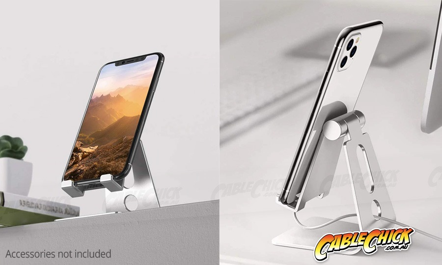 Universal Aluminium Phone & Tablet Stand (for Small Tablets & Phones) (Photo )