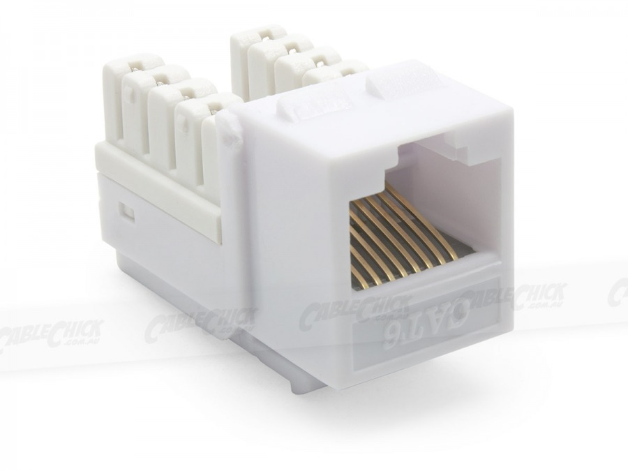 6x CAT6 Wall Plate (RJ45 Keystone Punchdown) (Photo )